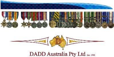 Replica & Miniature Medals - DADD Heirloom Displays & Medals